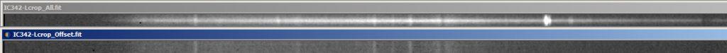 IC342 Spektren Vergleich Kern-Offset