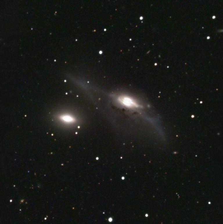 NGC 4435   NGC 4438   Arp 120   The Eyes Virgo