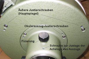 Vixen VC200L Kollimation Okularauszug